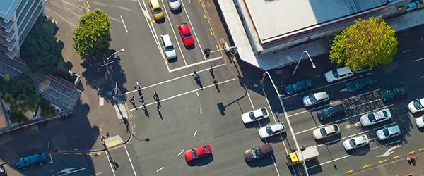 Cars on a street