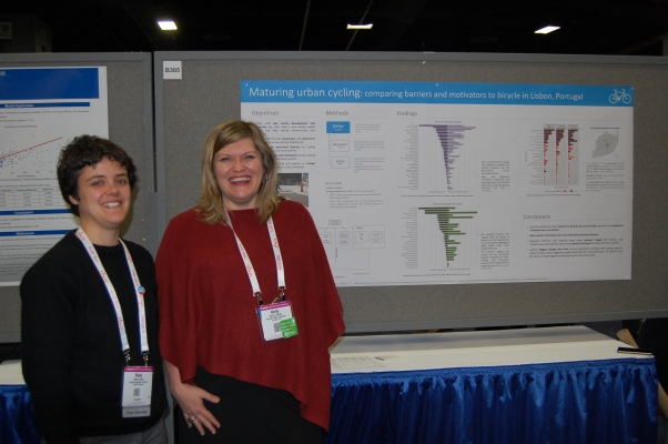 Kelly Clifton and student - presenting research at TRB Annual Meeting