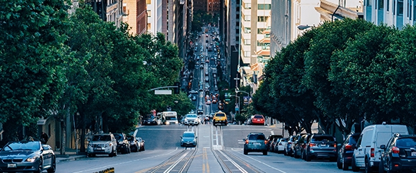 Image of a street with cars