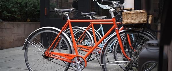 Orange bicycle