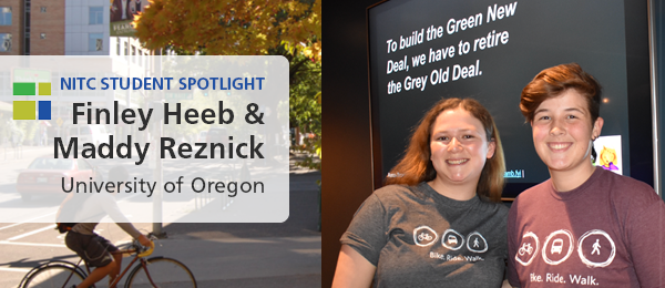 Student Spotlight: Finley Heeb and Maddy Reznick, University of Oregon